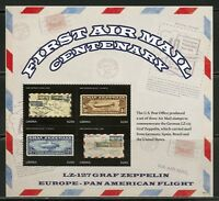 LIBERIA 2018 FIRST AIRMAIL CENTENARY SHEET MINT NH