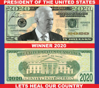 JOE BIDEN 2020 WINNER Dollar Bill - Pack of 50 Made In America Looks/Feels Real