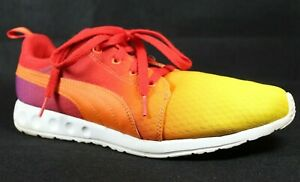 Puma carson runner sunset fade mens 10 lace up sneakers Orange Red purple