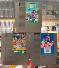 Arch Rivals, Football, and Ice Hockey NES Nintendo game lot