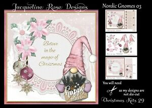 Christmas Kits 29 Decoupage 3 A4 Sheets NOT-DIE-CUT