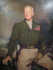 World War II General George S Patton Painting Borderless 8.5x11 Matte Art Photo
