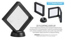 "3D Floating View Coin Display Frame Holder Box Case Medium Black (2.1"") - QTY 3"