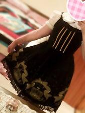 Classic Lolita Crown Print Dress Size 10-12