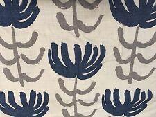 Designers Guild Blue Modern Print Flower Fabric- Pierrette Ink FWY2208/01 0.65yd