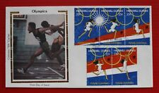 "Clearance - Marshall Islands (189a-e) 1988 Olympics Colorano ""Silk"" FDC"