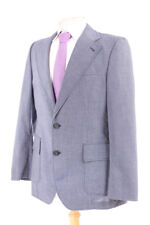 AUSTIN REED BLUE VINTAGE MEN'S SUIT 40R DRY-CLEANED