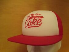 TRUE VINTAGE STEAL THE SHOW SHARE A COKE TRUCKER SNAP BACK HAT RED WHITE