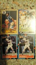lot of 4 BO JACKSON TOPPS DONRUSS SCORE baseball football cards Royals Raiders