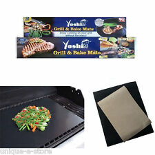 Yoshi Grill Bake Nonstick BBQ 2 Mats Pack Easy Baking Grilling , As Seen on Tv