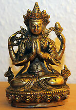 Weiße Tara Bronze Messing Buddha China chinese brass tibet Statue Guan Yin