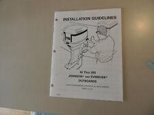 Johnson Evinrude 40 - 300 hp Installation Guidelines