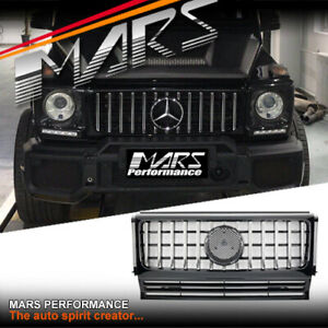 Black AMG Style Bumper Bar Grill Grille for Mercedes-Benz G-Class W463 & G55 G63