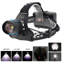 Rechargeable XHP50 LED Headlamp 3Mode Zoomable 2000LM Headlight 18650 Head Torch