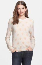 Equipment Shane Broken Hearts Sweater Ivory Cashmere Size Medium