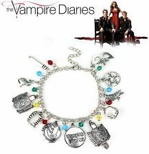 The Vampire Diaries: Bonnie, Elena, Antique Silver Multi Gem, 11 Charm Bracelet