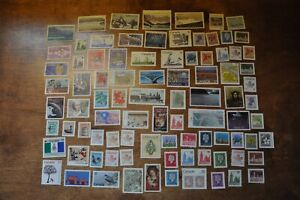 Lot of 89 G/F Canadian stamps no postmark no gum