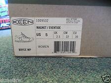 D08061619 Sz 5 Women's Keen Bryce WP New Magnet/Eventide 1009532 Hiking Shoe