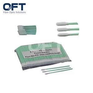 OFT 5Packs(100PCS/Pack) Ø2.5mm Foam Tipped Fiber Optic Swab Fiber Clean Stick