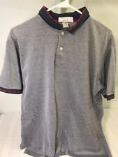 Vintage Lacoste International Tour Mens Size L Gray Golf Polo Shirt Short Sleeve