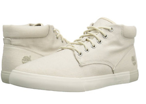 TIMBERLAND TB0A1GFLF48 2.0 CANVAS CHUKKA Mn's (M) White Canvas Casual Shoes