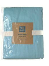 "Pottery Barn Teen Light Blue Twill Metro Drape Curtain 1 Panel 50x63"" New"