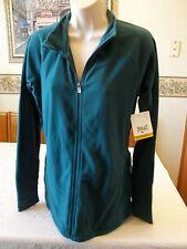 Women's Missy Everlast Fleece Jacket Full Zip Teal Green MEDIUM NEW