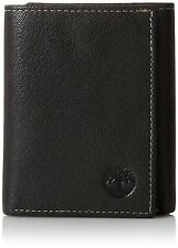 Timberland Men's Blix Slim Genuine Leather Credit Card Trifold Wallet Black