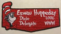 ESWAU HUPPEDAY OA LODGE 560 BSA PIEDMONT AREA NOAC 2006 DR SEUSS DELEGATE FLAP