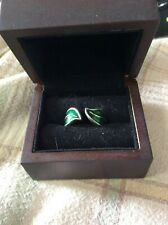 Noble Collection Lotr Fellowship Enamel Ring Size 8