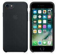 "SCHWARZ ECHTES ORIGINAL Apple Silicone Case Silikon Hülle iPhone 7/8  4.7"" NEU"