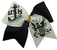 US NAVY Military Support Cheer Hair Bow  Personalize for free!