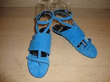 CRAZY COOL, SUPER RARE, BRAND NEW $765 PIERRE HARDY BLUE SUEDE SANDALS (NWB)