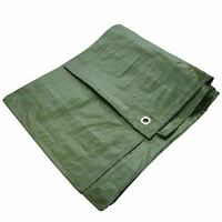 "New 6x9"" Green Waterproof Tarpaulin Heavy Duty Strong Light Weight Ground Sheet"