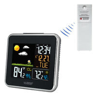 308-146 La Crosse Technology Wireless Atomic Color Weather Station with TX142TH