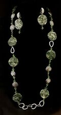 Ladies Handcrafted Martinee Style Necklace Green Costume Jewellery