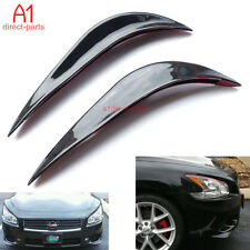 Front or Back Bumper Cover Saver Stickers Protector Guard 3D Black Streamline