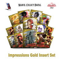 Topps Marvel Collect Digital - Impressions Gold super rare set (cc750)