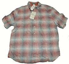 Tommy Bahama Ravenna Plaid Linen Blend Shirt Sz M Glazed Razzberry NWT T322514