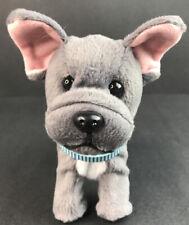 American Girl Gray French Bulldog Dog Pup Gray Plush �🦴 Fdx10 6� A4