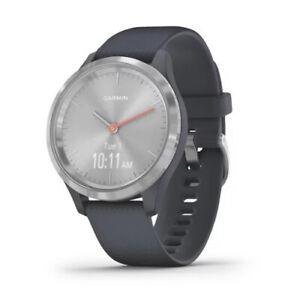 Garmin vivomove 3S Hybrid Smartwatch (Silver with Granite Blue Band)