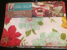 The Pioneer Woman Watercolor Poinsettia Table Runner