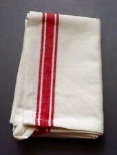 1 - Aunt Martha's Vintage Style Red Stripe Cotton Kitchen Dish Tea Towels - NEW