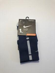 Nike Elite Crew Basketball Cushioned Socks Size Small Women's 4-6 Navy SX3629