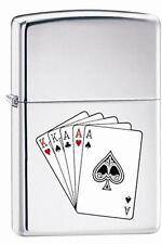 Zippo 250 full house poker hand Lighter