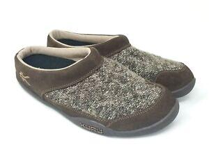 Kuru Men's Draft House Shoes Cocoa Brown 1712067 Size 11.5 EUR 45 G313