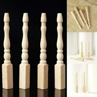 4PCS Cabriole table legs dollhouse miniature 1/12 scale wood I7G4