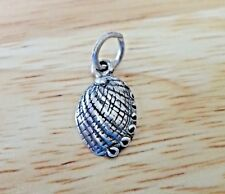 Sterling Silver 3D 16x10mm Mother of Pearl Seashell Abalone type Shell Charm