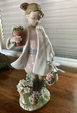 LLADRO #8240 DELICATE NATURE - GIRL WITH FLOWERS, $700 Retail