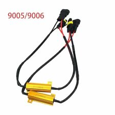 2X 9005/9006 50W LED CAN Fog Load Resistors Error Free Wiring Harness Decoder